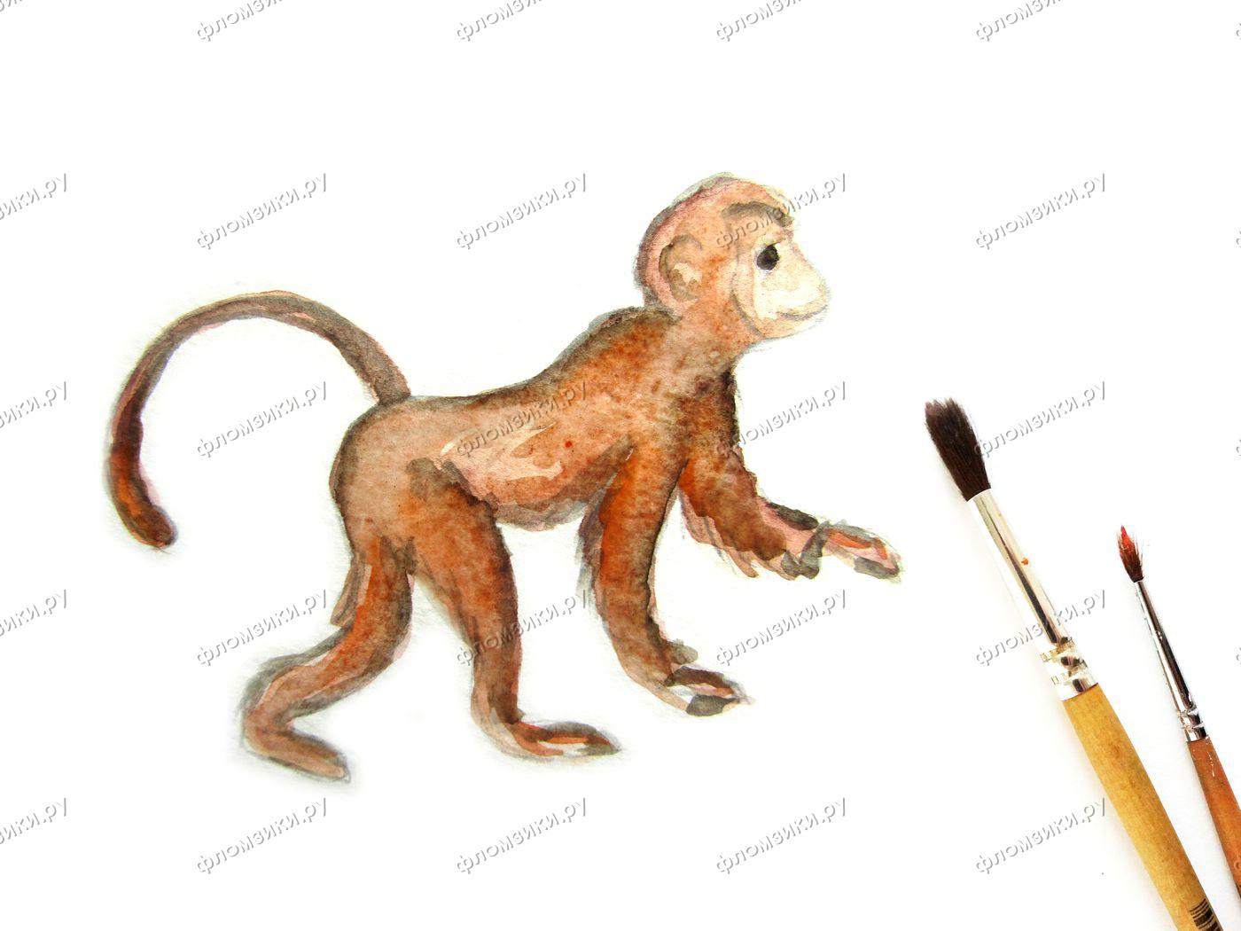 Как нарисовать обезьяну поэтапно