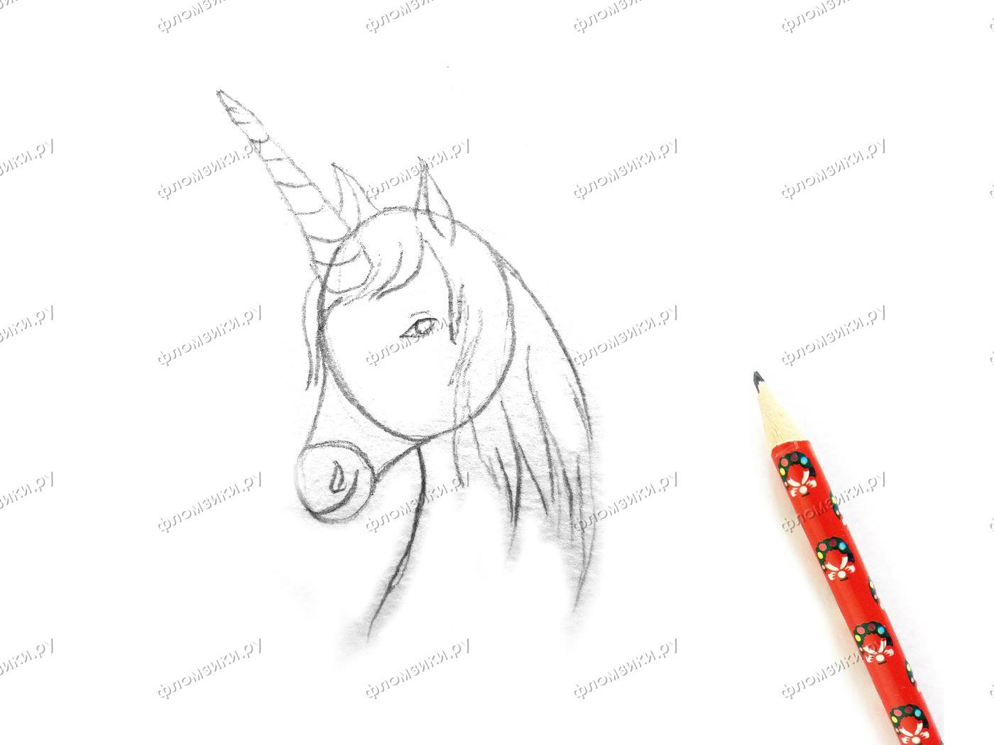 Как нарисовать единорога поэтапно