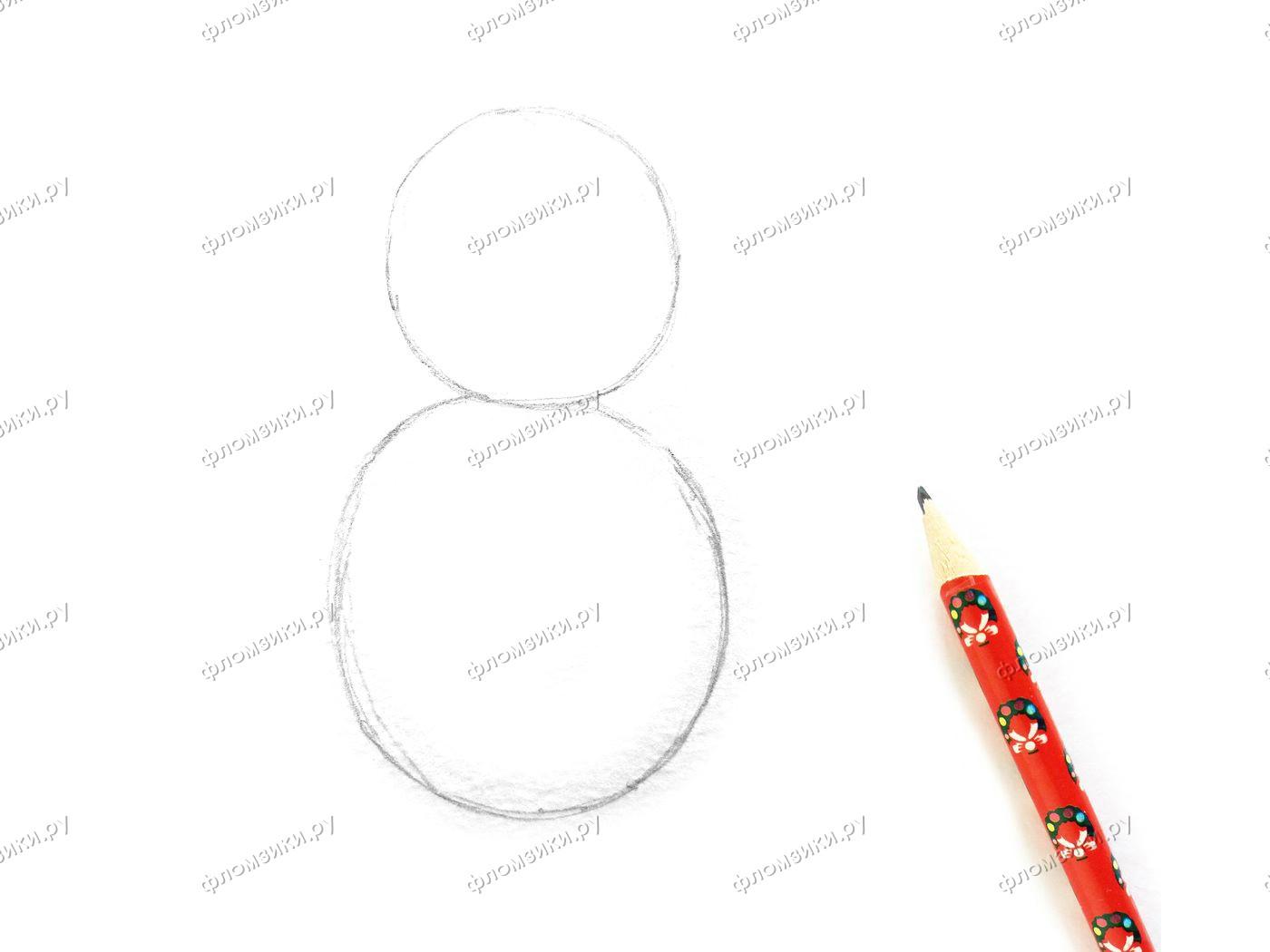 Как нарисовать матрешку поэтапно