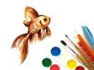 Как нарисовать золотую рыбку поэтапно