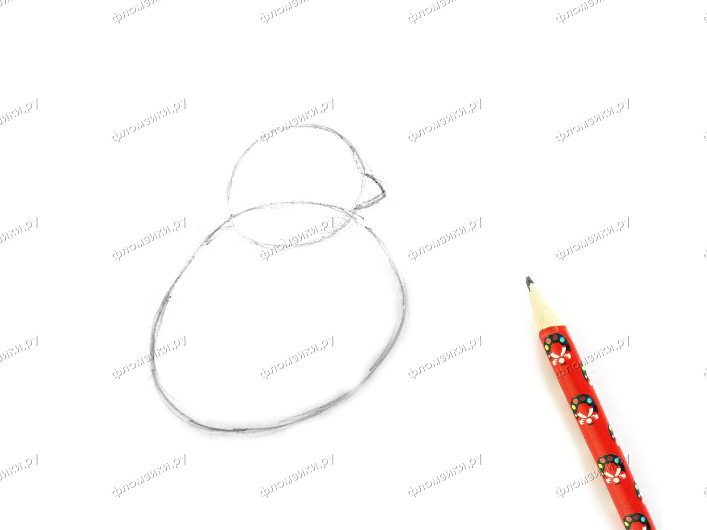 Как нарисовать снегиря поэтапно