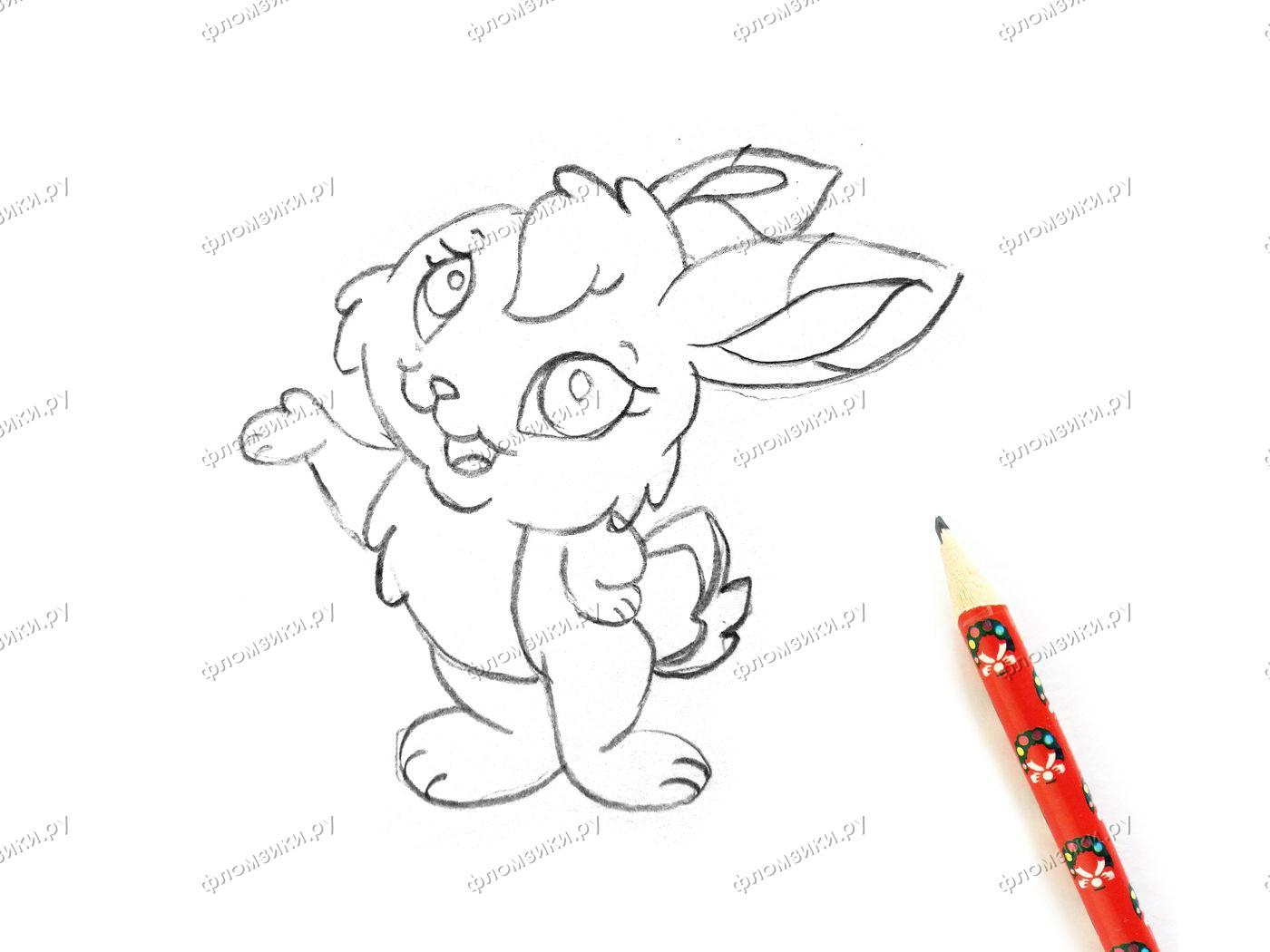 Как нарисовать зайку поэтапно