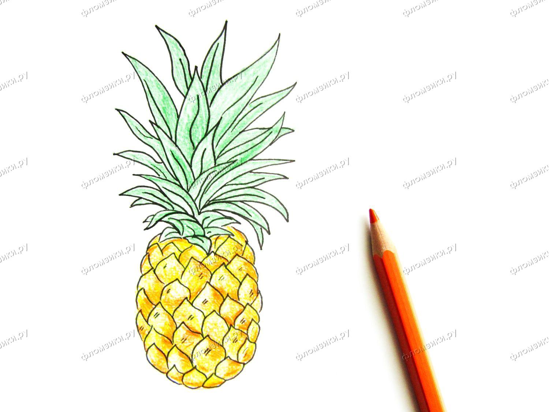 Как нарисовать ананас поэтапно