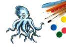 Как нарисовать осьминога поэтапно