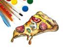 Как нарисовать пиццу поэтапно