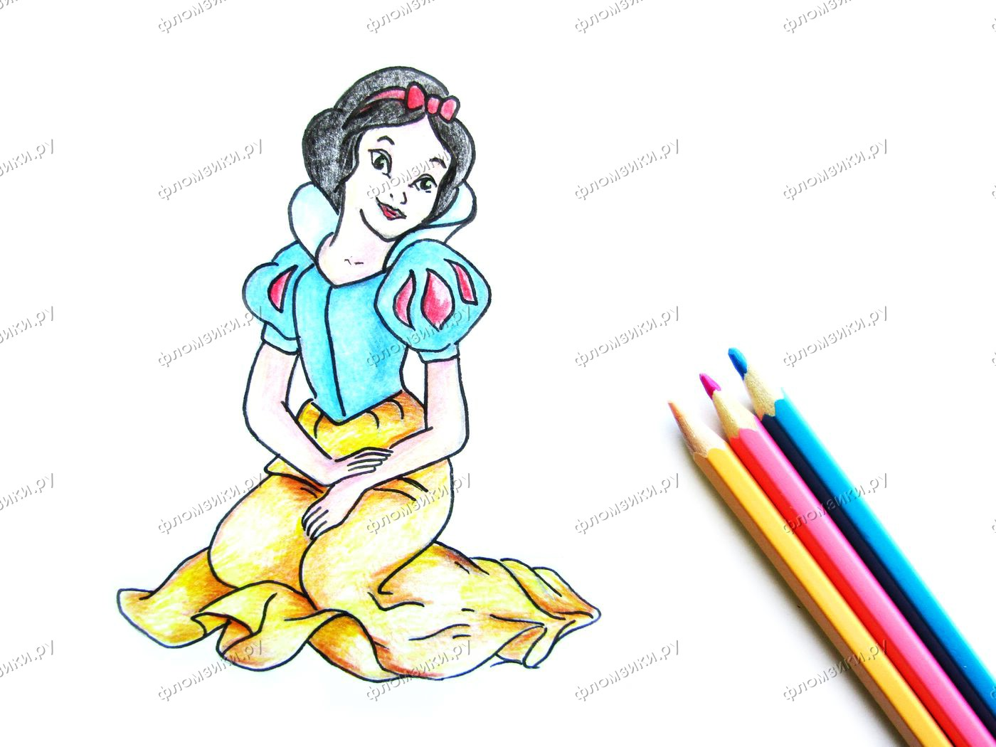 Как нарисовать Белоснежку