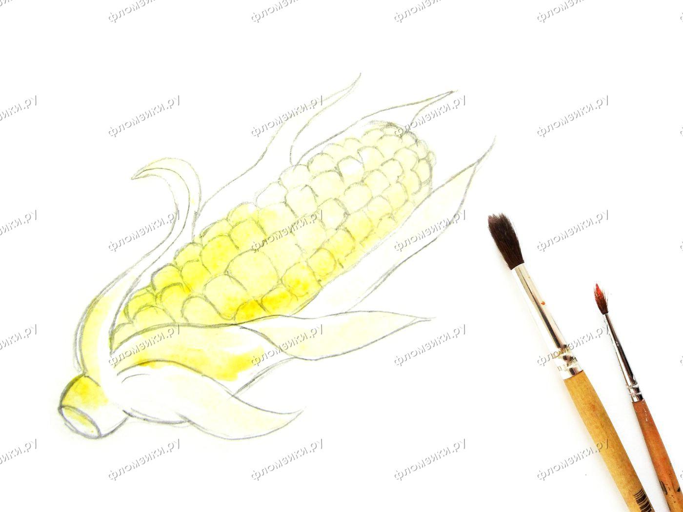 Как нарисовать кукурузу