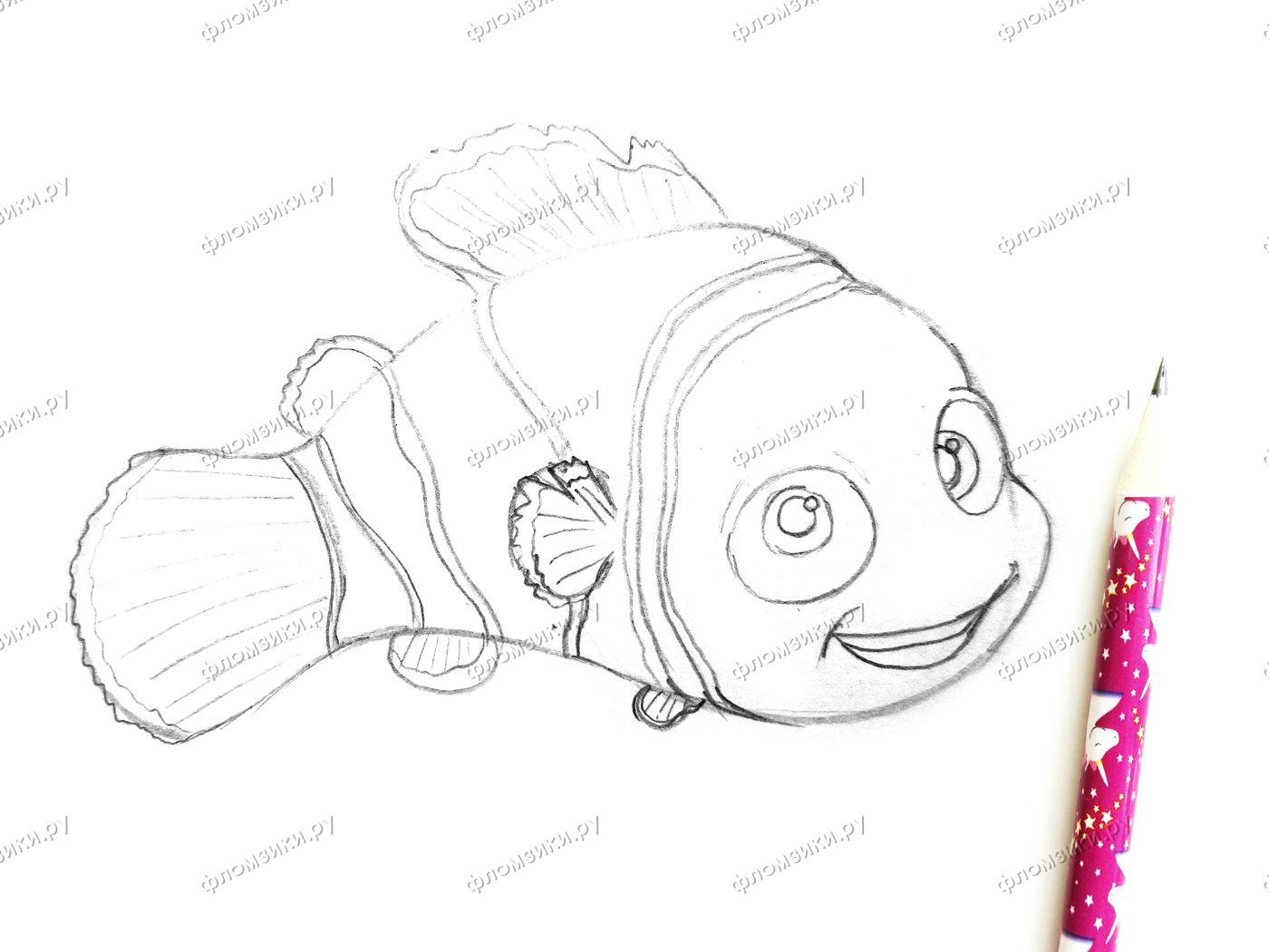 Как нарисовать рыбку Немо
